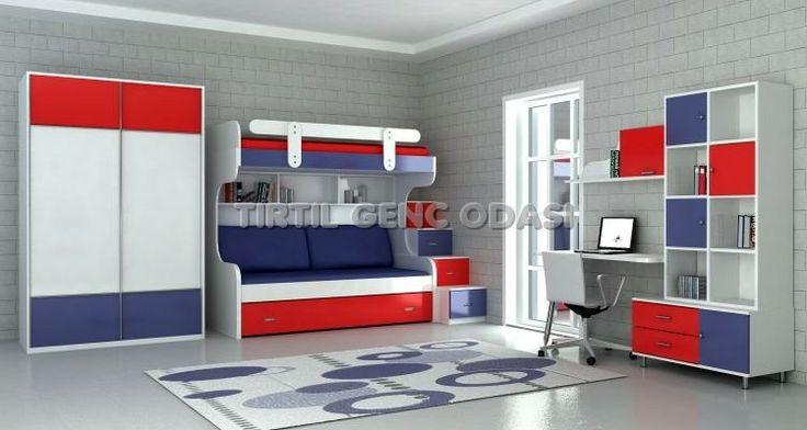Tırtıl Genç Odası Ranza Modelleri Çocuk Odası Çocuk Mobilyası