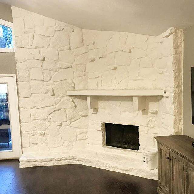 This Opaque Stone Fireplace Update Was Expertly Done By The Team