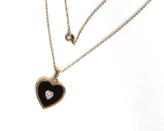 Onyx Heart Mom Ring