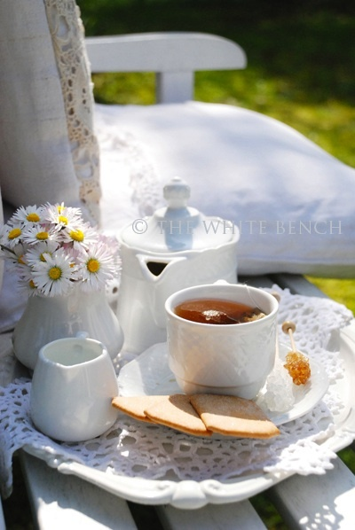 Tea At The Garden Place... (1) From: The White Bench, please visit