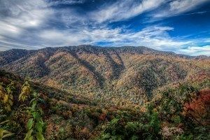 View of the Smoky Mountains from Wears Valley cabin rentals.