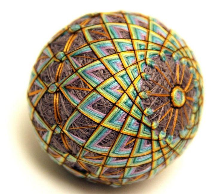 Немного  истории.  Шары темари – народная форма искусства, которая произошла в Китае. Первоначально шары делались матерями и бабушками для детей из обрезков старых кимоно. Ткань ужималась, обматывалась нитками и расшивалась декоративными узорами. Искусство темари – вышивка на шарах.   Наслаждение творчеством