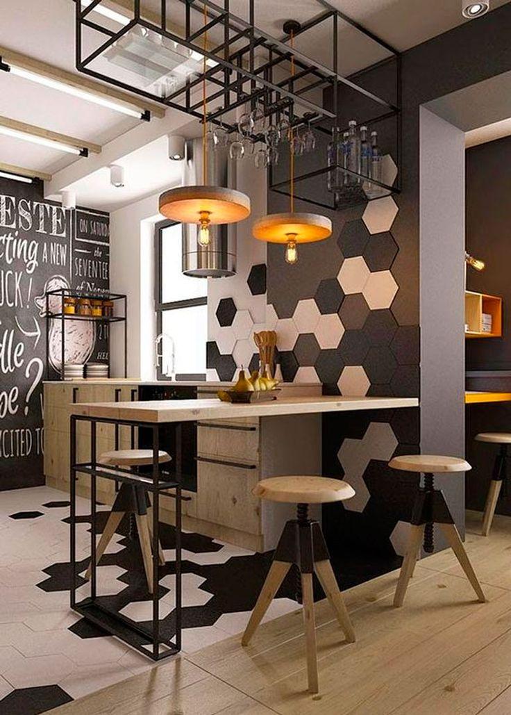 40+ Идей интерьера однокомнатной квартиры: как добиться комфортного минимализма http://happymodern.ru/interer-odnokomnatnoj-kvartiry-43-foto-kak-dobitsya-komfortnogo-minimalizma/ Кухня однокомнатной квартиры в стиле лофт