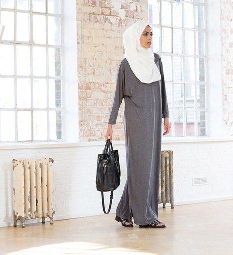 grey casual tshirt abaya
