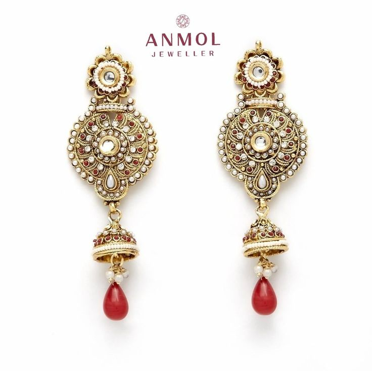 Fancy multi -colored-stone Earrings, With a small hangingjhumki design. #anmol_jeweller  #gold #diamond #signity #ring #band #jewel #jewelry #latest #design #fashion #jewelryblogger #jotd #lavish #stylish #royal #cute #art #beautiful #engagementring #ladiesring #ladiesjewelry #designerring #jewelrydesigner #fashionjewelry #ringband #exclusive #finejewelry #whitegold #jewelrygram   For queries call or watsapp:9910401704.  To place order mail us at:Anmol.jeweller01@gmail.com