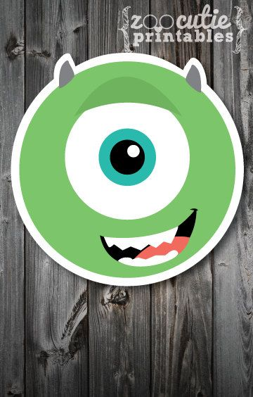 DIY Mike Wazowski Invitations by ZooCutiePrintables on Etsy. Monsters inc.