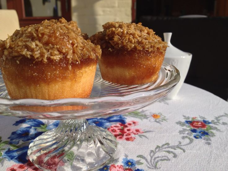 """I made a cup cake from a danish recipe called """"drømmekage"""". you will find it here: http://mariemarolles.com/2011/07/24/verdens-bedste-drommekage/ Good luck"""