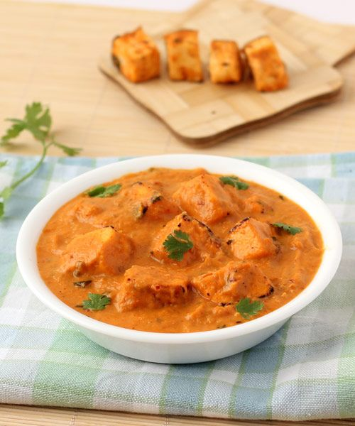 Paneer Tikka Masala -  Punjabi Special Paneer Tikka Curry - Spicy Indian Food - Recipe with Step by Step Photos - Best to serve in lunch or dinner with any type of Indian style flat bread