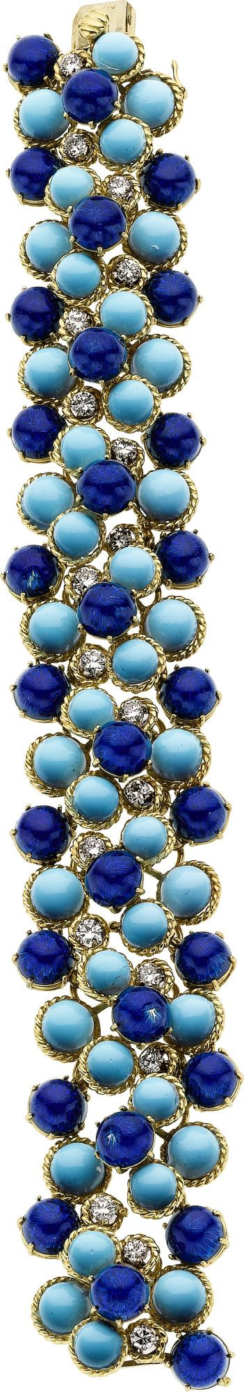 Diamond, Enamel, Gold Bracelet. ... Estate JewelryBracelets   Lot #58184   Heritage Auctions