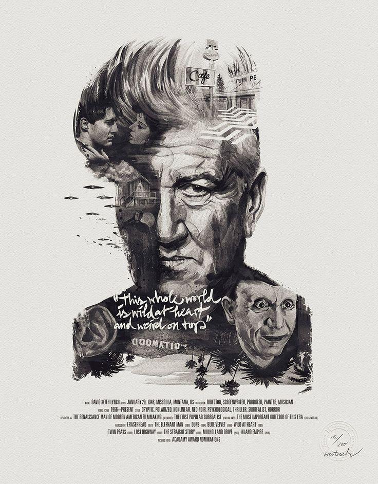 poster of David Lynch. by Julian Rentzsch.