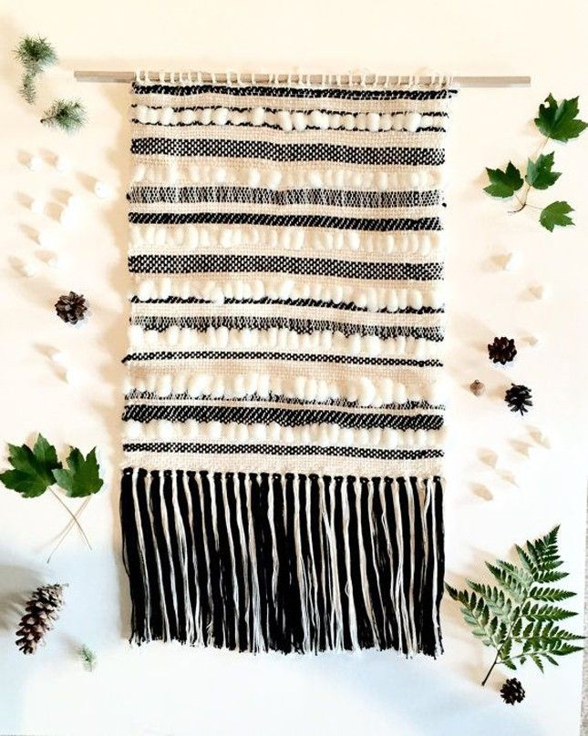 Nothing says winter like this Fair Isle-inspired wall art.