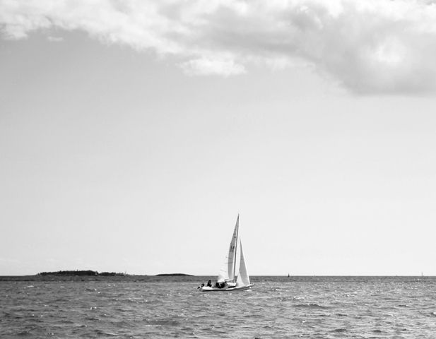 Sailing boat in Helsinki
