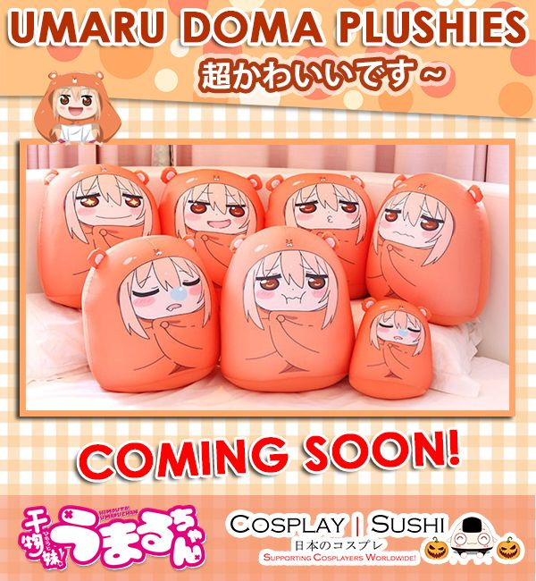 Good News #CosplaySushiFans!ヽ(^o^)ノ Cosplay Sushi will be releasing new soft and fluffy Umaru Doma Plushies soon! Stay updated for more cool news~  Follow Cosplay Sushi   Visit www.CosplaySushi.com for more cool stuff!  #CosplaySushi #cosplay #cool #cosplayer #UmaruChan #UmaruDoma #UmaruHimoutochan #waifu #Plush #plushie #soft #cushion