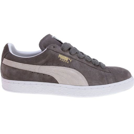 Puma Suede Classic Plus Shoes (Steeple Gray/White) $46.95