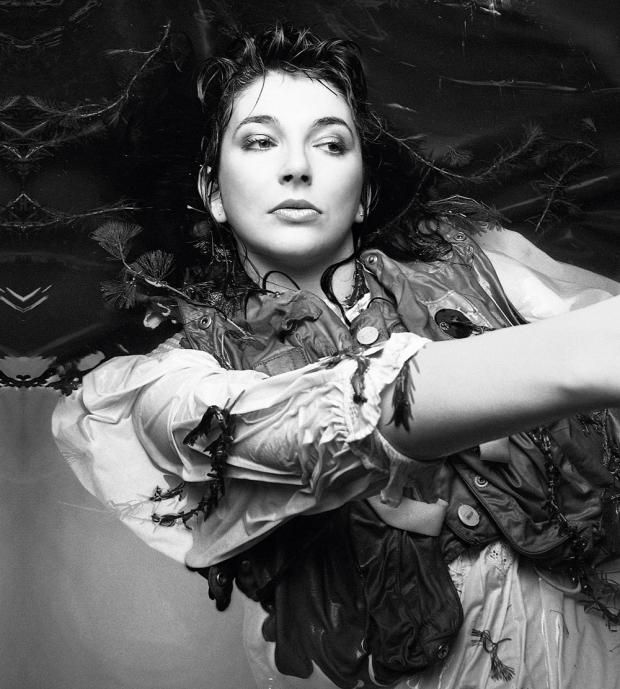 Kate Bush - photo from the back cover of 'Hounds of Love'