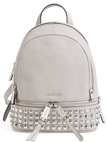 a4ab1a8b9a72 ... germany grey michael kors extra small rhea zip studded backpack  available at nordstrom de5b0 16802