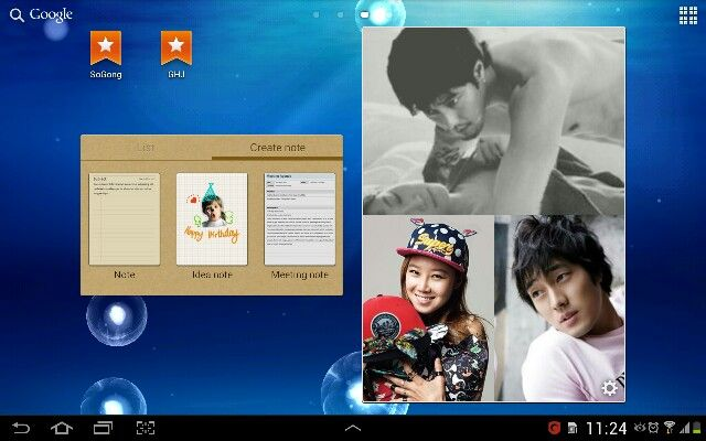 My home screen right now. I love my new tablet.:D cr: uploaders and DC.