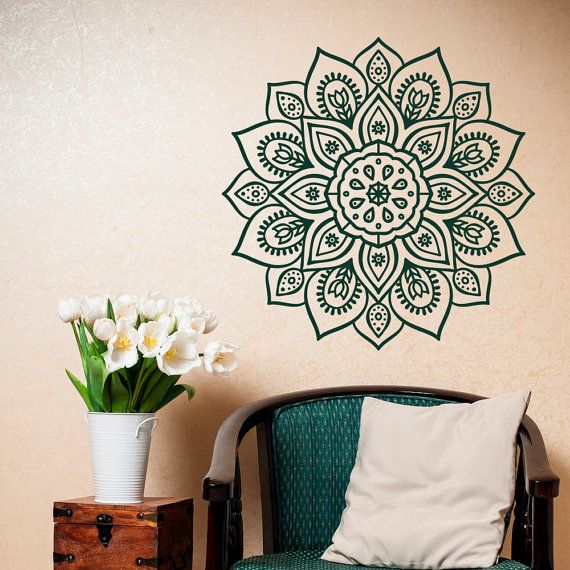 Superb Removable Wall Decal Mandala   Vinyl Mandala Wall Decal  Mandala Wall Art  Yoga Studio Bohemian Bedroom Morrocan Decor  Mandala Sticker #2