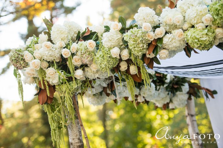 Flower canopy for the outdoors | Aramat Events // Images by AnyaFoto Photography // www.anyafoto.com