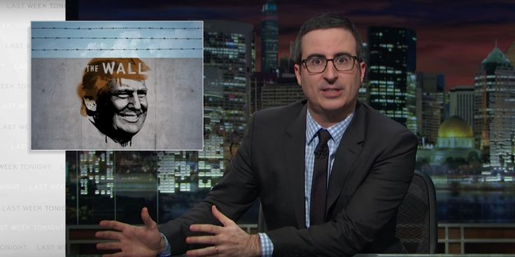 John Oliver tears down Donald Trump's wall plan