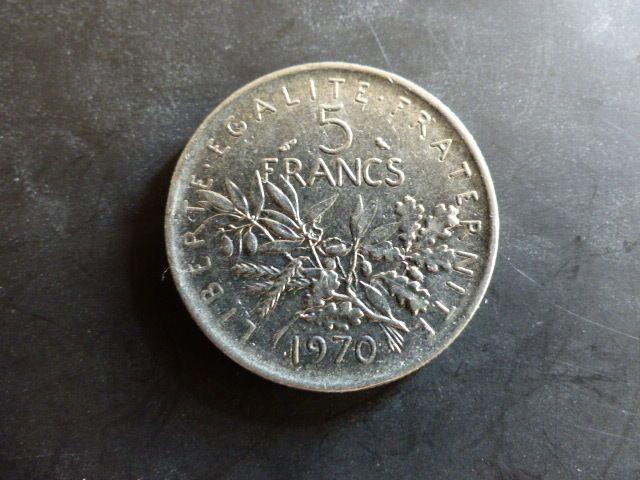 PIECE MONNAIE FRANCE 5 FRANCS semeuse 1970 très bon état   eBay