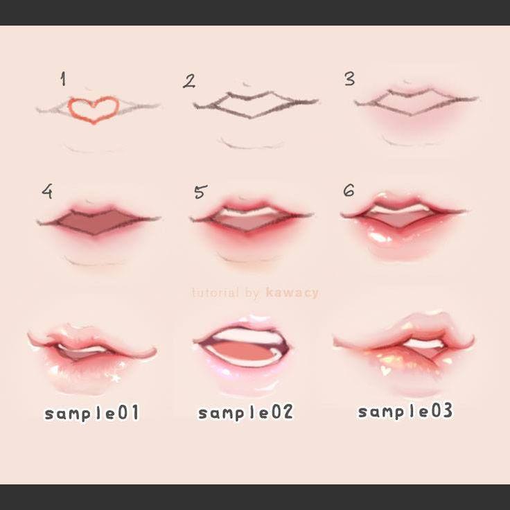 lips step by step - by kawacy