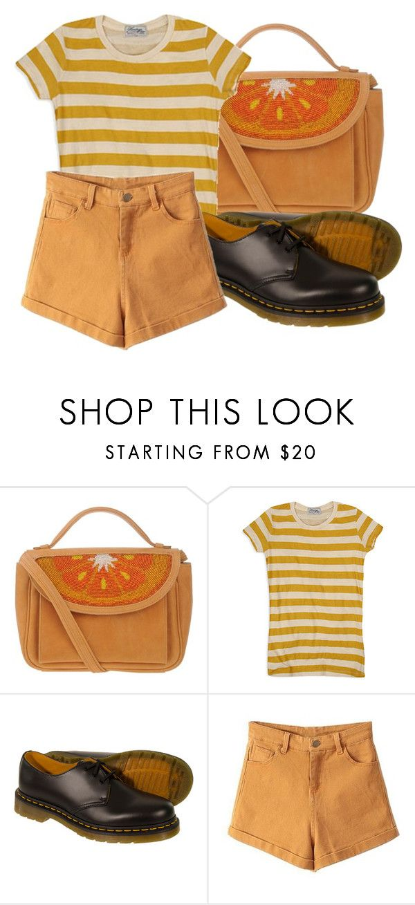 """""""Geen titel #479"""" by robin-jose ❤ liked on Polyvore featuring Sarah's Bag, Forever 21 and Dr. Martens"""