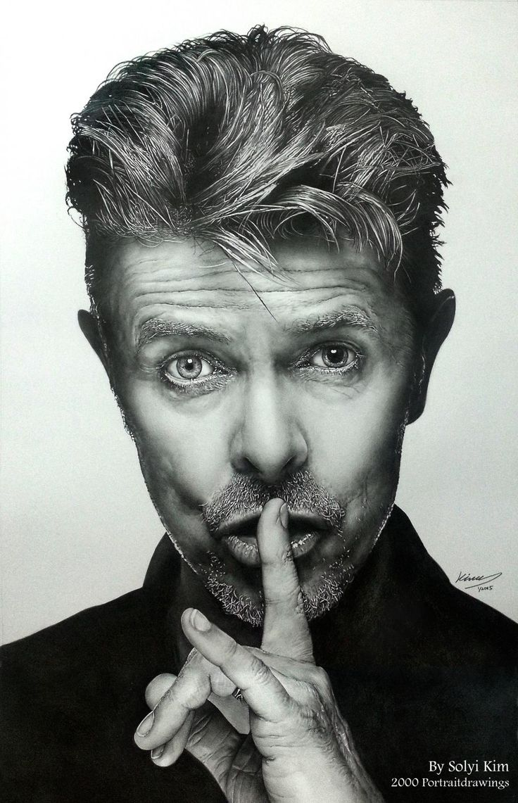 Portraits of David Bowie By Solyi Kim, HB, 2B pencil on paper, 385 mm X 605 mm Discover The Secrets Of Drawing Realistic Pencil Portraits... http://pencil-portrait-mastery-today.blogspot.com?prod=aJbkhdJG
