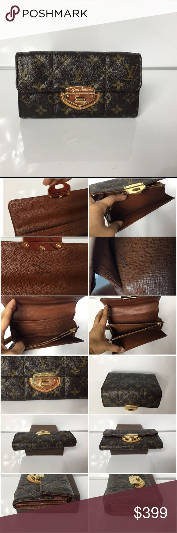 100% Authentic Louis Vuitton  Etoile Sarah Wallet 💥PRICE FIRM 💥 100% Authentic Louis Vuitton Monogram Etoile Sarah Wallet.. Pre-Owned in very good used condition. Very clean inside. Outside has crack ( see pictures) and sign of wear.. . Has initial stamped inside. MADE IN FRANCE DATE CODE SP1103 ( 10 weeks of 2013 )   Please check all the pictures.-In order to avoid unnecessary return. 100% authentic or your money back- no return sold as is-.. Louis Vuitton Bags Wallets
