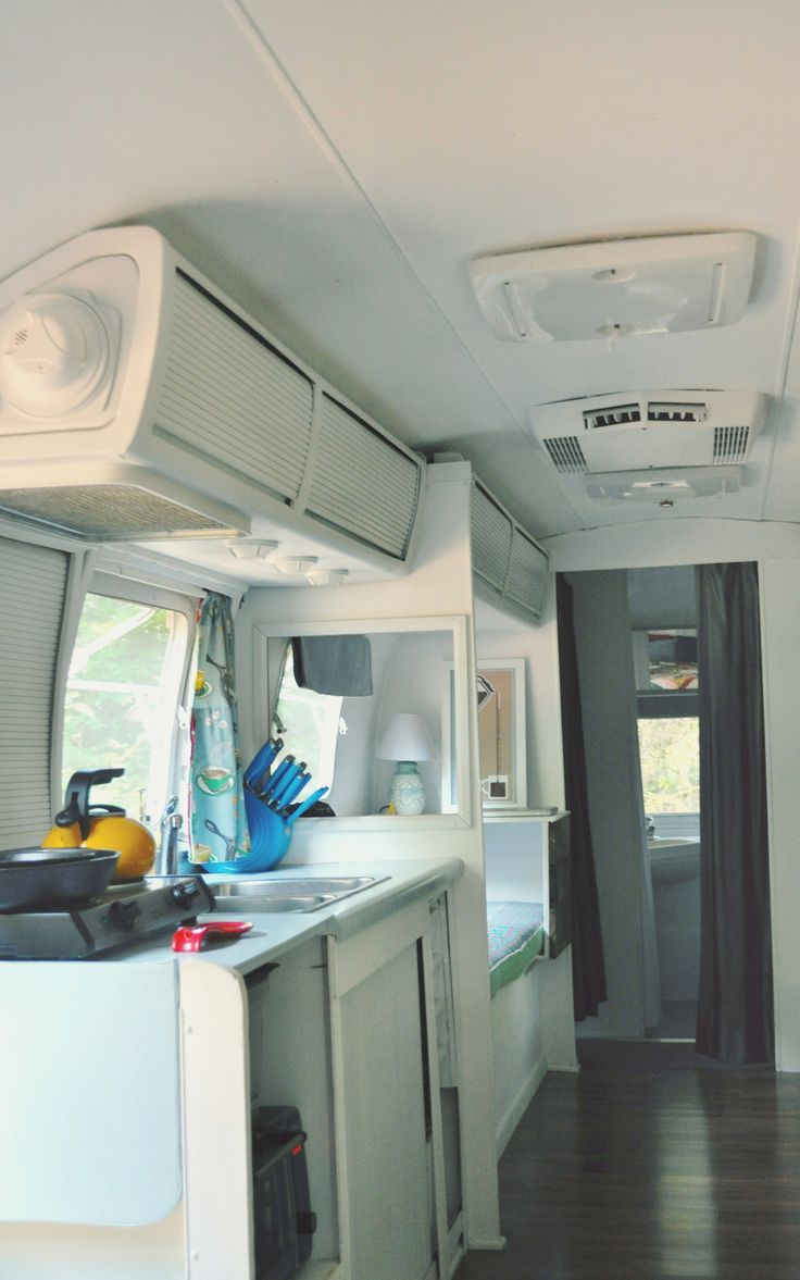 Airstream kitchen and sitting area remodel