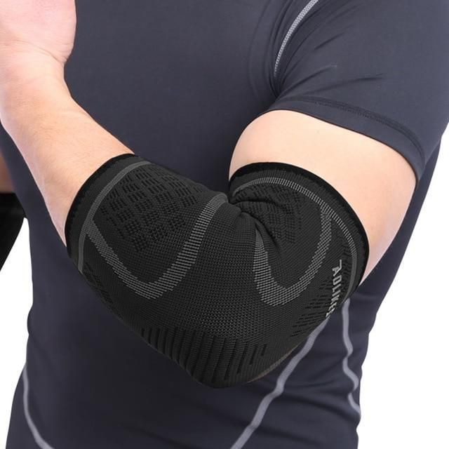 Breathable Elbow Support Basketball Football Sports Safety Volleyball Elbow Pad Elastic Elbow Supporter In 2020 Elbow Support Basketball Arm Sleeves Elbow Braces