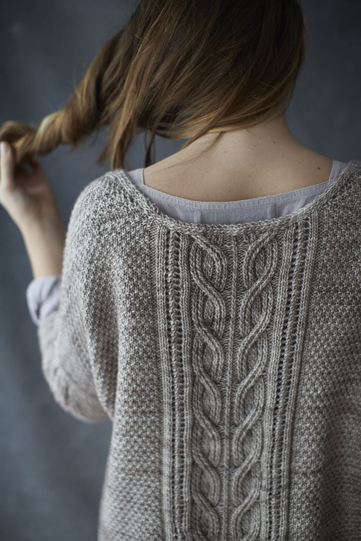 Sous Sous ~ knit sweater/pullover constructed flat in two pieces then joined at shoulders and p/u sleeves ~ pattern by Norah Gaughan ~ $6.75 digital download   via Ravelry