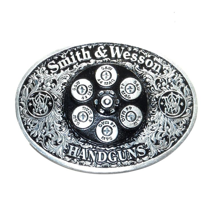 Smith & Wesson Handguns Pewter Color American Belt Buckle