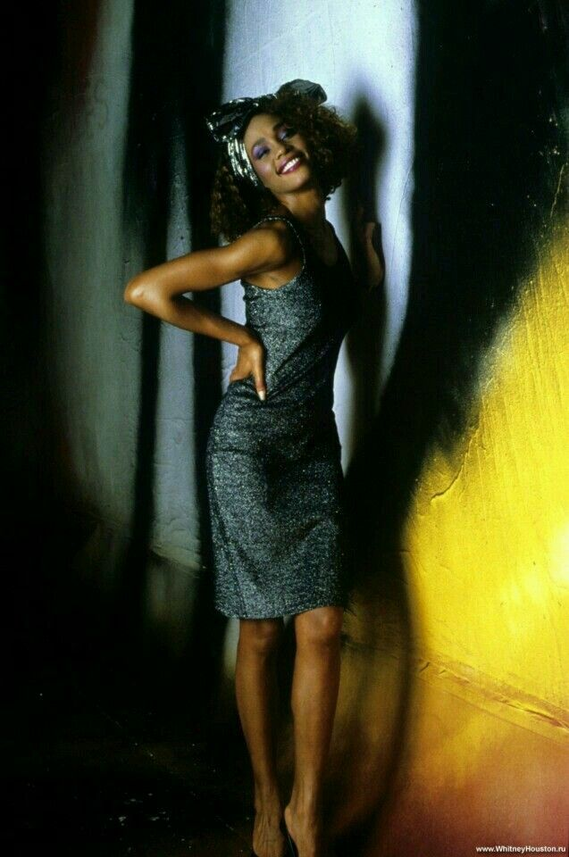 Whitney Houston on the set of her video 'How Will I Know'.