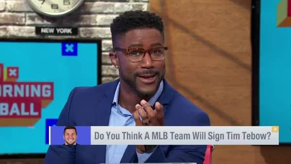After his tryout for MLB scouts? Nate Burleson thinks Tim Tebow has a future...  But it's back in
