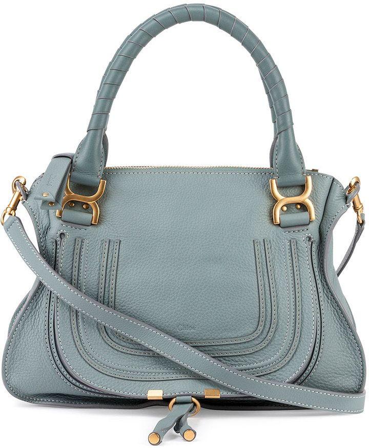 Chloe Marcie Medium Satchel Bag, Light Blue