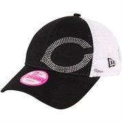 New Era Cincinnati Reds Ladies Jersey Shimmer Adjustable Hat - Black