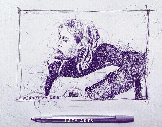 Kurt Conain by Lazy Arts love it!