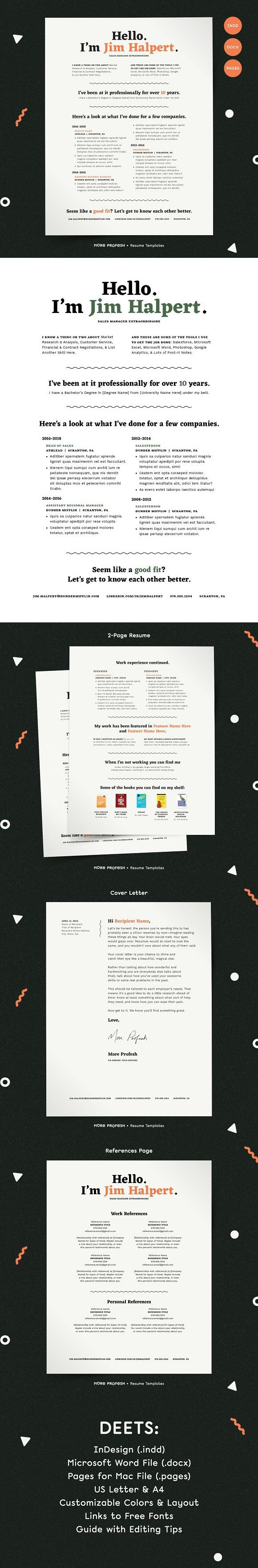 Human Voiced Resume CV Kit Resume Templates 524