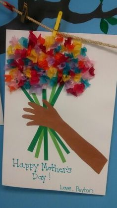 Mother's Day craft my 3yr old preschool class made for their moms.