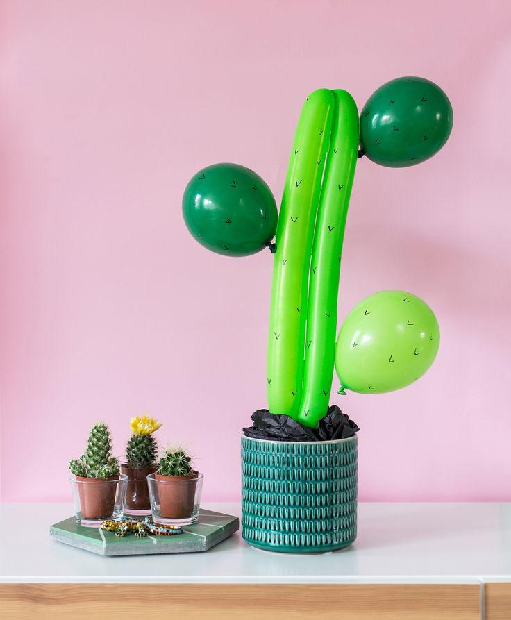 Ska du ha fest med Mexikotema? Gör en effektfull ballongkaktus till festen. Det är enkelt och går snabbt. Steg för steg-beskrivning hur du gör hittar du här