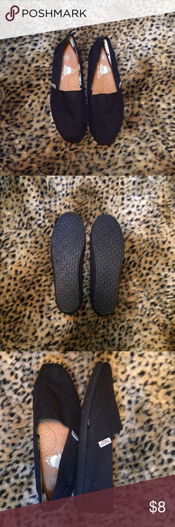 Black Canvas Shoes Black canvas shoes.  Size 7.  Worn once Shoes