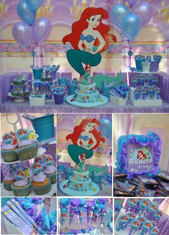 sirenita ariel fiesta infantil