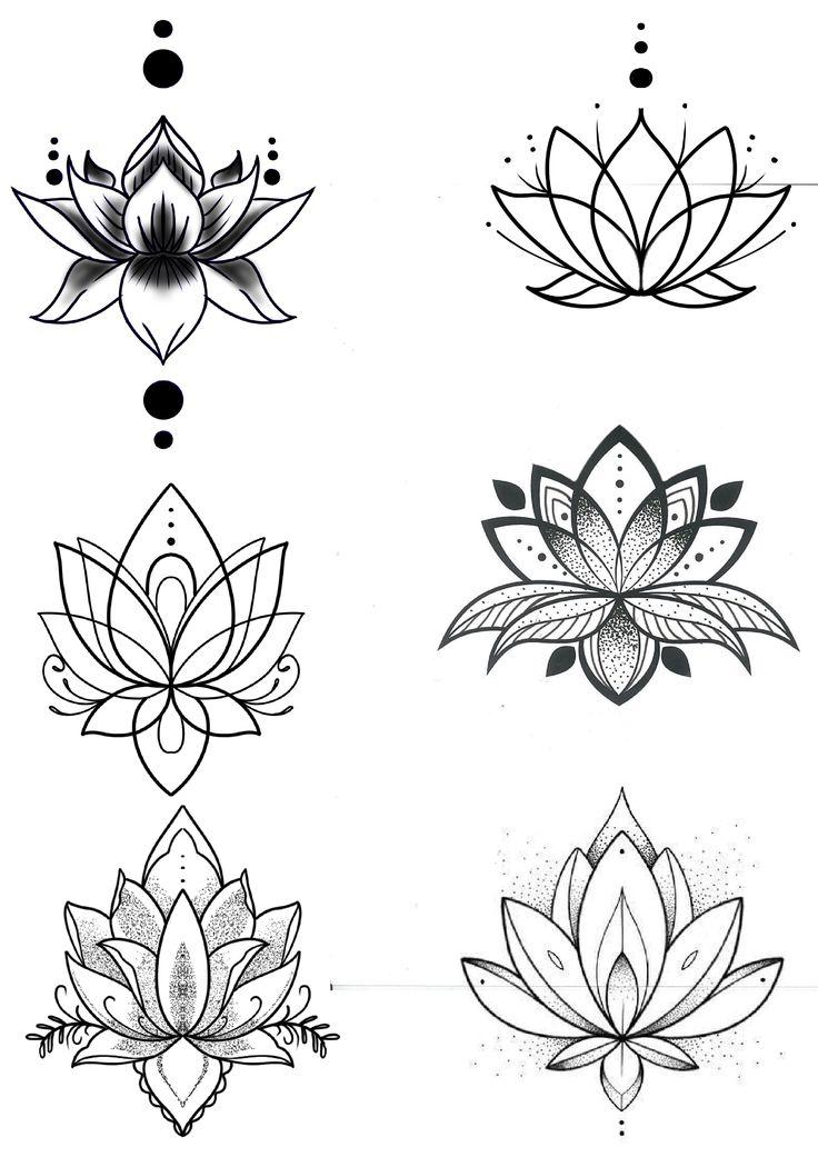 лотос цветок рисунок тату металла