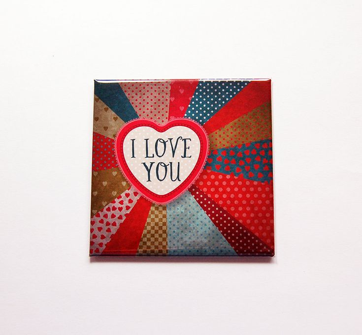 I Love You Magnet, Valentines Day Magnet, Heart magnet, Fridge magnet, Gift for her, Kitchen Magnet, Gift for girlfriend, love magnet (7174) by KellysMagnets on Etsy