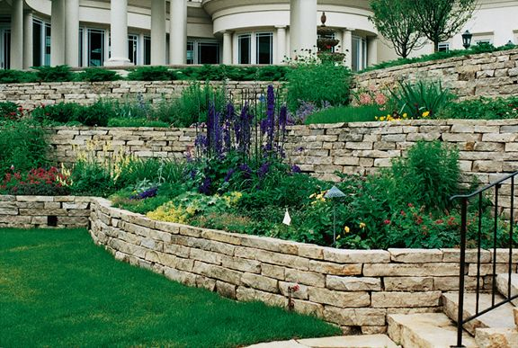 retaining wall. I like this stone
