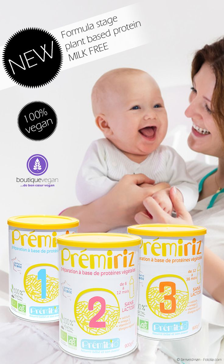 Vegan dairyfree organic infant formula by Premiriz - It's essential that your baby gets all the important nutrients within his first 3 years of life. Prémiriz is entirely plant based, mainly made of hydrolysed rice proteins and contains the perfect amounts of proteins, fatty acids, omega 3&6, vitamins and minerals. Entirely lactose free!