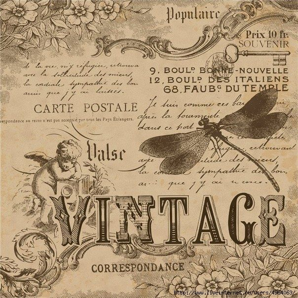 Printable image for decoupage and transfer purposes -vintage ephemera