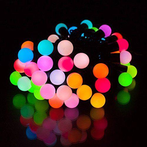 イルミネーション RGBボール ストレート 防水仕様 5m50球 レインボーカラー LEDイルミネーション / RGB / ボールライト / 防雨型 / 防水 / LED 電飾 / イルミネーションライト / 装飾 / 照明 / ライト / クリスマスライト / 7彩