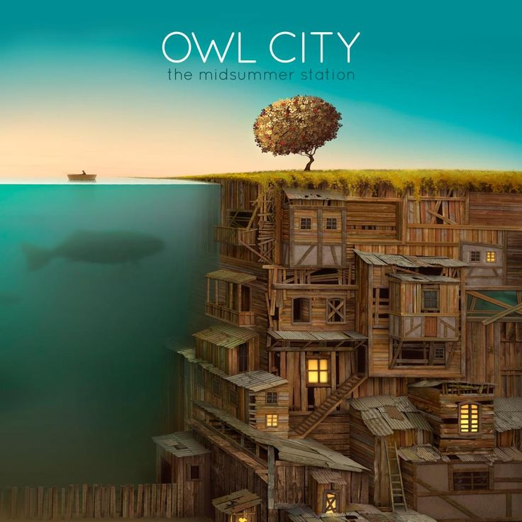 I like this album cover because it's a very sophisticated but neat drawing of an underwater city.